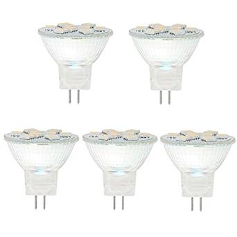 HERO-LED MR11-9T-WW MR11 GU4 LED Halogen Replacement Bulb, 12V AC/DC, 1.8W, 15-20W Equivalent, Warm White 3000K, 5-Pack(Not Dimmable)