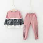 High quality wholesale custom boutique children's boutique wear clothing fall sets in india