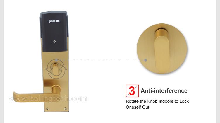 hotel door lock types. RF-212 Security Smart RFID Swipe Card Reader Hotel Door Handle Locks Lock Types