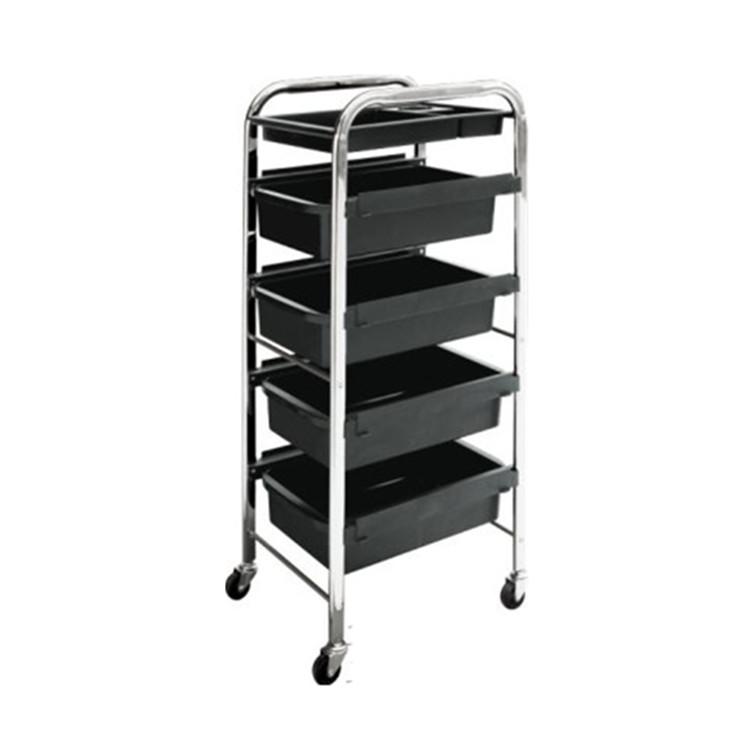 Plastic Hair Salon Trolley Storage Tray Cart Home Spa Hairdressing Trolley
