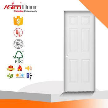 Woodgrain 6 Panel Solid Core Primed Molded Composite Single Prehung Interior  Door With Flat Jamb