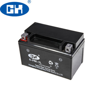 Maintenance Free YTX7-BS Motorcycle Battery