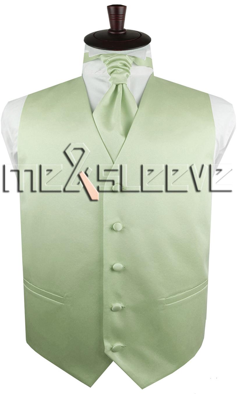 64f6161ab4910 hot sale free shipping solid light peak green suit waistcoat(vest+ascot  tie+cufflinks+handkerchief) - us545
