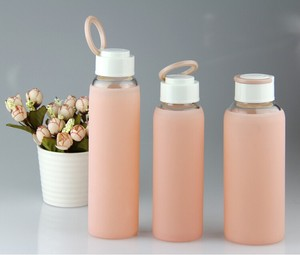 Glass water bottle with lock lid,accept paypal payment,Low MOQ