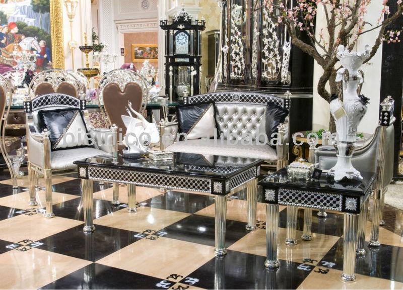 canapé de salon classique en bois sculpté à la main YKRJRR ...