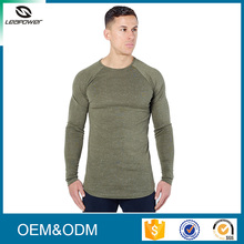 China manufacture top quality quick dry sport long fitness men t shirt