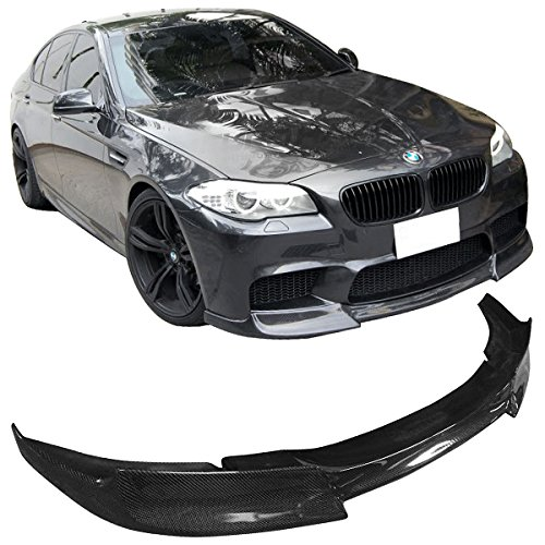 Front Bumper Lip Compatible With 2010-2013 BMW F10 5-Series 3D Style PU Black Front Lip Spoiler Splitter by IKON MOTORSPORTS