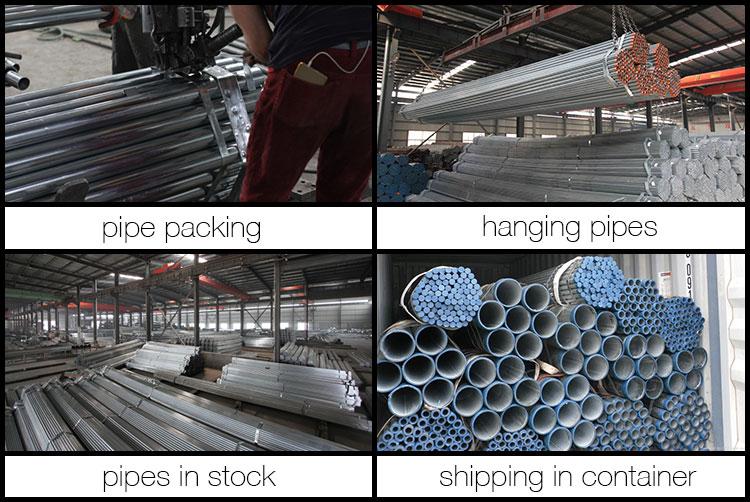 galvanized round pipe packaging