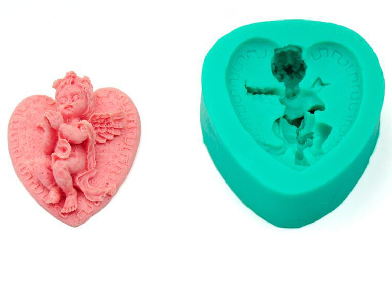Silicone decoration mold kitchen fondant cake mold 3D Angel shape  silicone design for cake