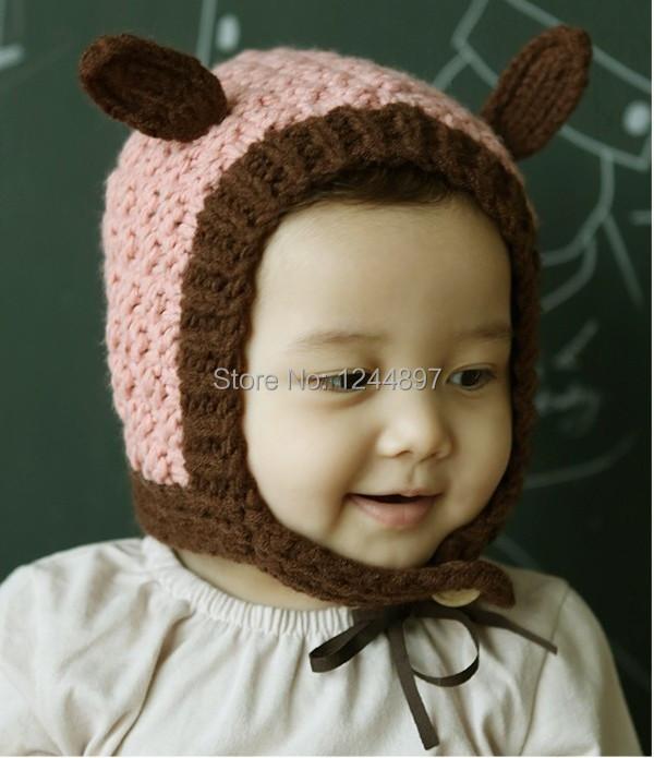 1PCS/Children of rabbit ears elf ears hat the baby warm