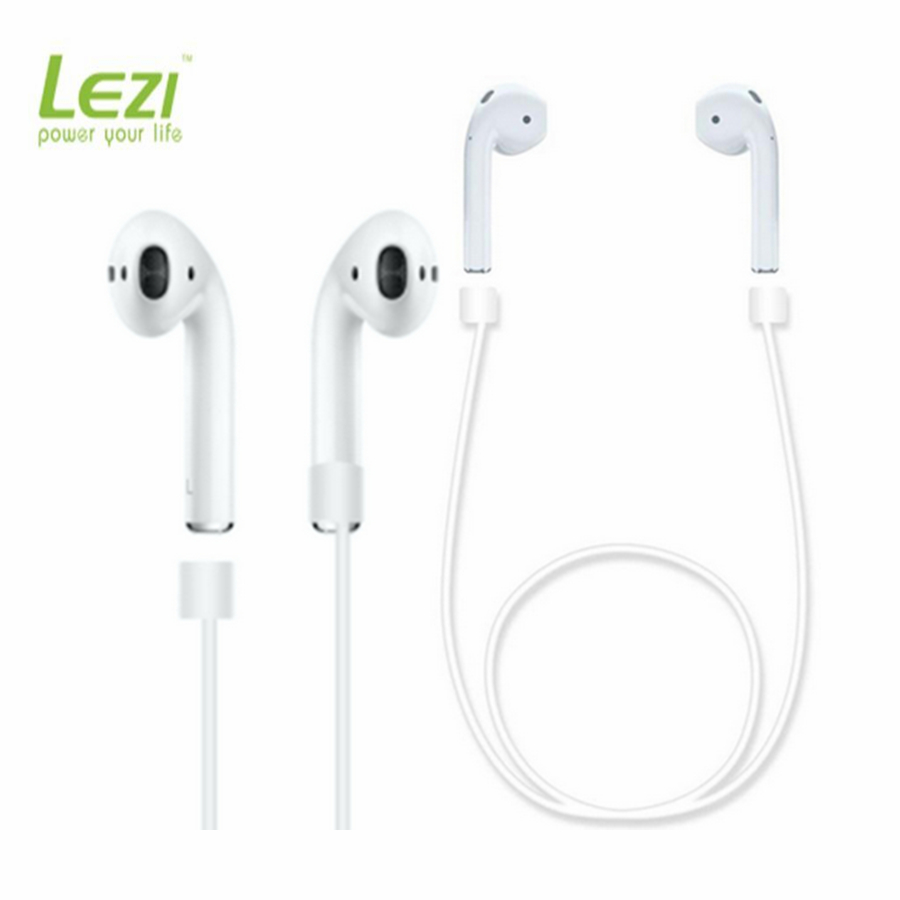 Soft Silicone For iPhone 7 for AirPods Strap Sports Wire Anti Lost Rope for iPhone forAirPods headphones anti-lost line