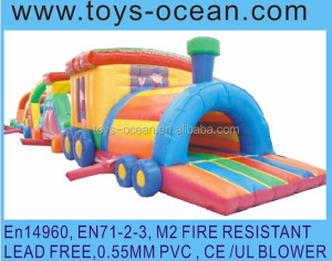 inflatable train tunnel course /giant inflatable obstacle course/inflatable kids obstacle course