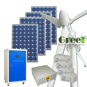 Hot ! home use wind solar hybrid power system 2kw 5kw 10kw 20kw 30kw on/off grid solar wind power system