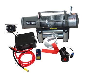 Hydraulic Electric Winch Truck 13000lbs Trailer Warn For