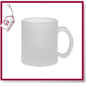 Dye Sub Printing Frosted Glass 11oz Mug in Top Quality for Personalized Gift