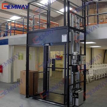 Gem Hydraulic Freight Goods Cage Lift Elevator Platform