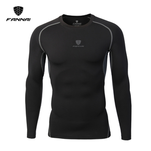 2017 New Men's O-Neck Long-Sleeved T-Shirt Cool Dry Compression Baselayer Underlayer Top