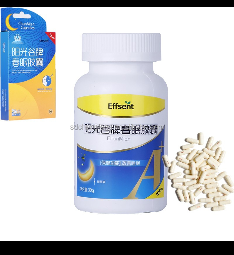 Herbal Extract Melatonin 3mg Supplement Melatonin Capsule and Tablet Dosage Form OEM Contract Manufactuere