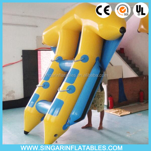 Hot fun 4 seats sea flyfish water game,inflatable flyfish sports for summer