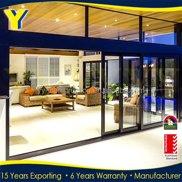 aluminum large 48 inches lowes indoor and exterior sliding glass patio garge doors / sliding door