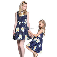 fashion designer dress / ladies chiffon fashion dress / mother and daughter latest fashion dress designs