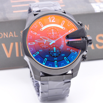 2019 military luxury montres mens new original reloj big dial display quartz fashion dz steel wrist watches