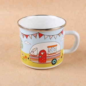 Handmade wholesale enamel 2016 beeg mug Factory Customized