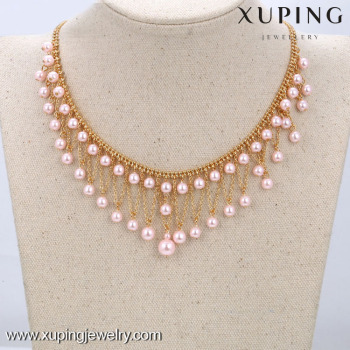 42551xuping Pearl Necklace DesignsWomen Latest Bead Necklace