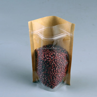OEM Offered Factory Laminated Material Kraft Paper Bag With Zip Lock