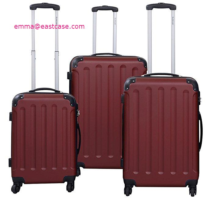 d08b1d360 Luggages Sets Glossy Suitcase Sets Hardside Spinner Trolley Expandable(20',  24' & 28') TSA