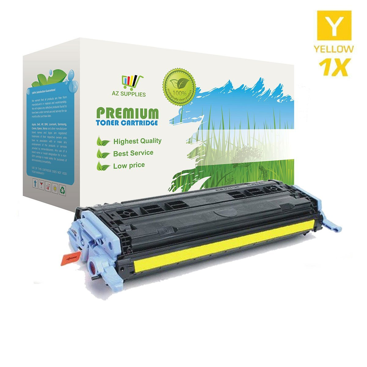 Get Quotations · AZ SUPPLIES Toner | 30% more Print Yield |as a Replacement  Q6002A Yellow compatible