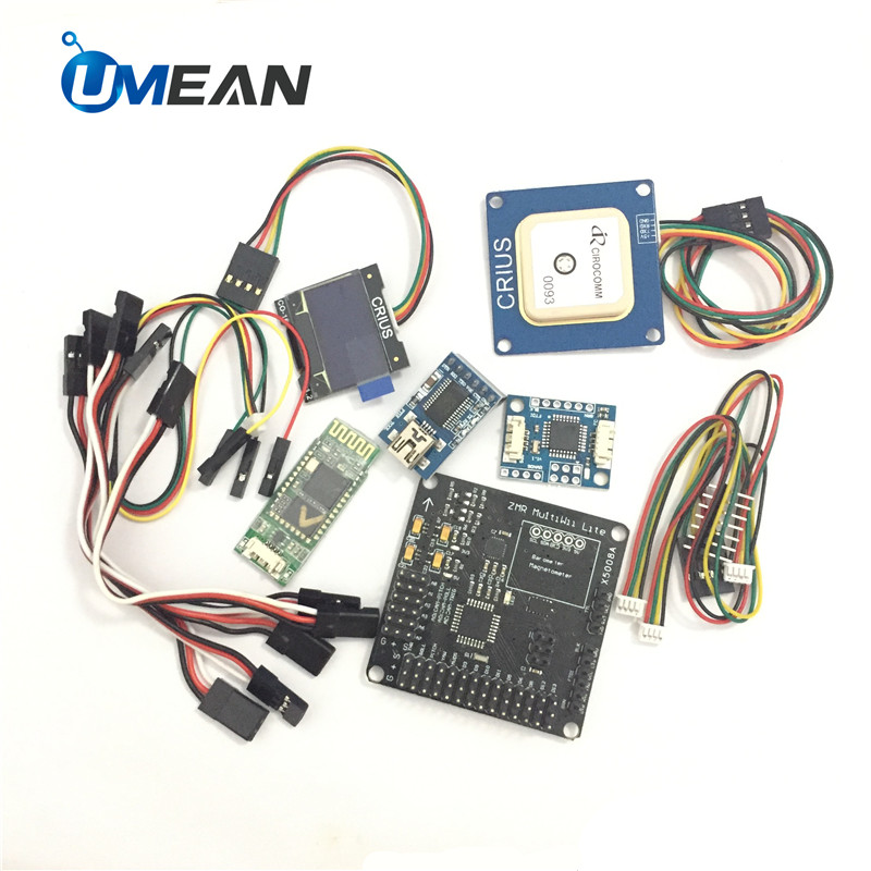 CRIUS MWC MultiWii Kit Set Lite Flight Control Board Bluetooth CO-16 OLED NEO-6 GPS Modul APM Pixhawk i2c FTDI 232