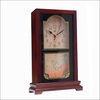 Antique style wooden mini grandfather table clock