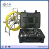 Portable video sewer pipe inspection equipment with on-screen meter counter