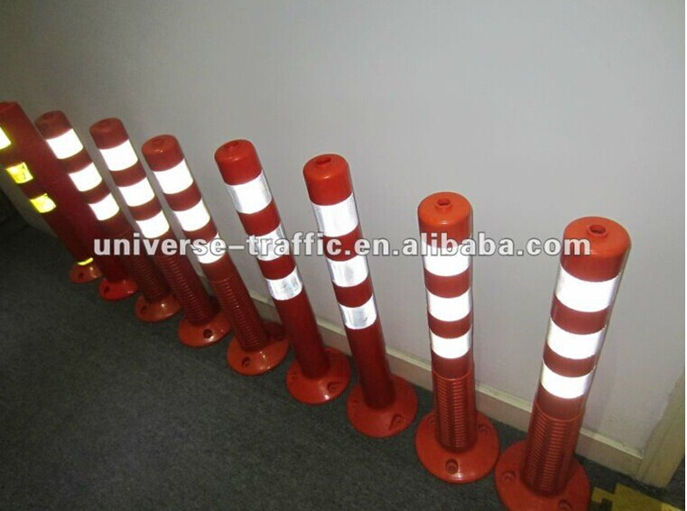 Spring Reflective Flexible Bollard Plastic Bollard Parking Bollards