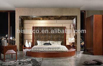 Camera Da Letto Legno Naturale : Moderno letto rotondo con struttura in legno massello mobili