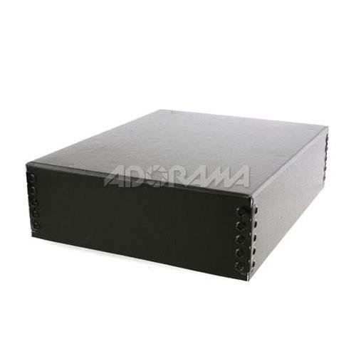Lineco Museum Archival Drop-Front Storage Box Acid-Free with Metal Edges Tan 733-3811 8.5 X 11 X 3 inches