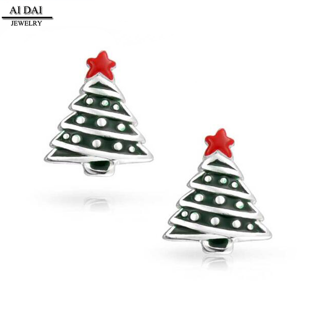 Latest Christmas Gift Series Earrings Cute Christmas Tree New Year Earrings