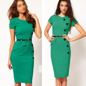 Fashion Ladies Formal Dress For Office Design Buy Formal Dress For
