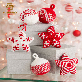 Christmas Baubles Hanging Decoration Knitted Christmas Ball Holiday Stars And Balls Christmas Ornaments Buy Knitted Christmas Ball Christmas Baubles