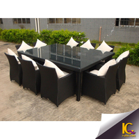 sectional dining table and chair outdoor rattan furniture china