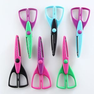 Popular colorful different cutting teeth school children craft scissors