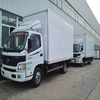 3.5tons foton right hand drive cargo van/3.5 tons van cargo truck for sale