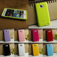 OWNEST 8 colorful silicone soft gel tpu cover case For Samsung Galaxy S2 i9100 + Screen Protector