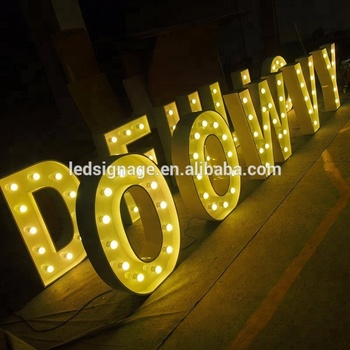 Wooden Love Letter Sign Light Bulbs Marquee Decorations For Wedding