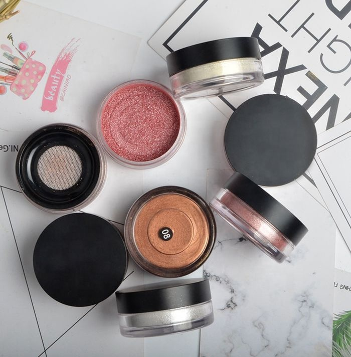 High Pigment Custom Your own brand Bronzer Highlighter Private Label 8 Colors Makeup Loose Highlighter Powder