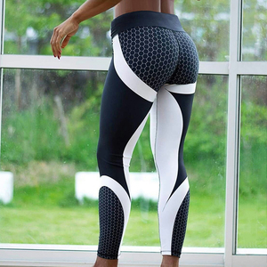 OEM custom logo yoga pants black and white leggings activewear