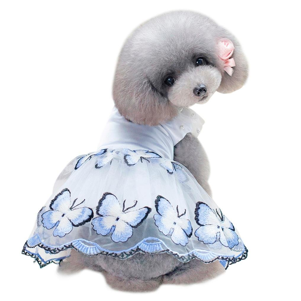 723bbd7fcc111 Cute Summer Pet Dress Dog Dress Butterfly Yarn Princess Dress Tutu Dress  Skirt Clothes for Puppy