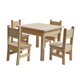 Wooden Study Table And Chairs For Kids