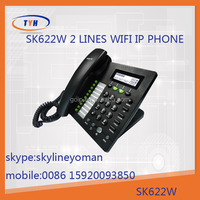 Sk 622W 2 lines wifi topdesk wireless ip phone h232 voip phone